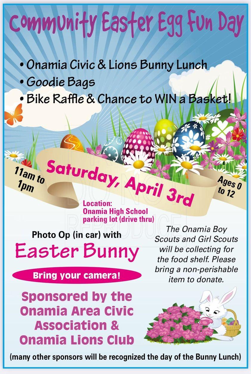 Community Easter Egg Fun Day Flyer