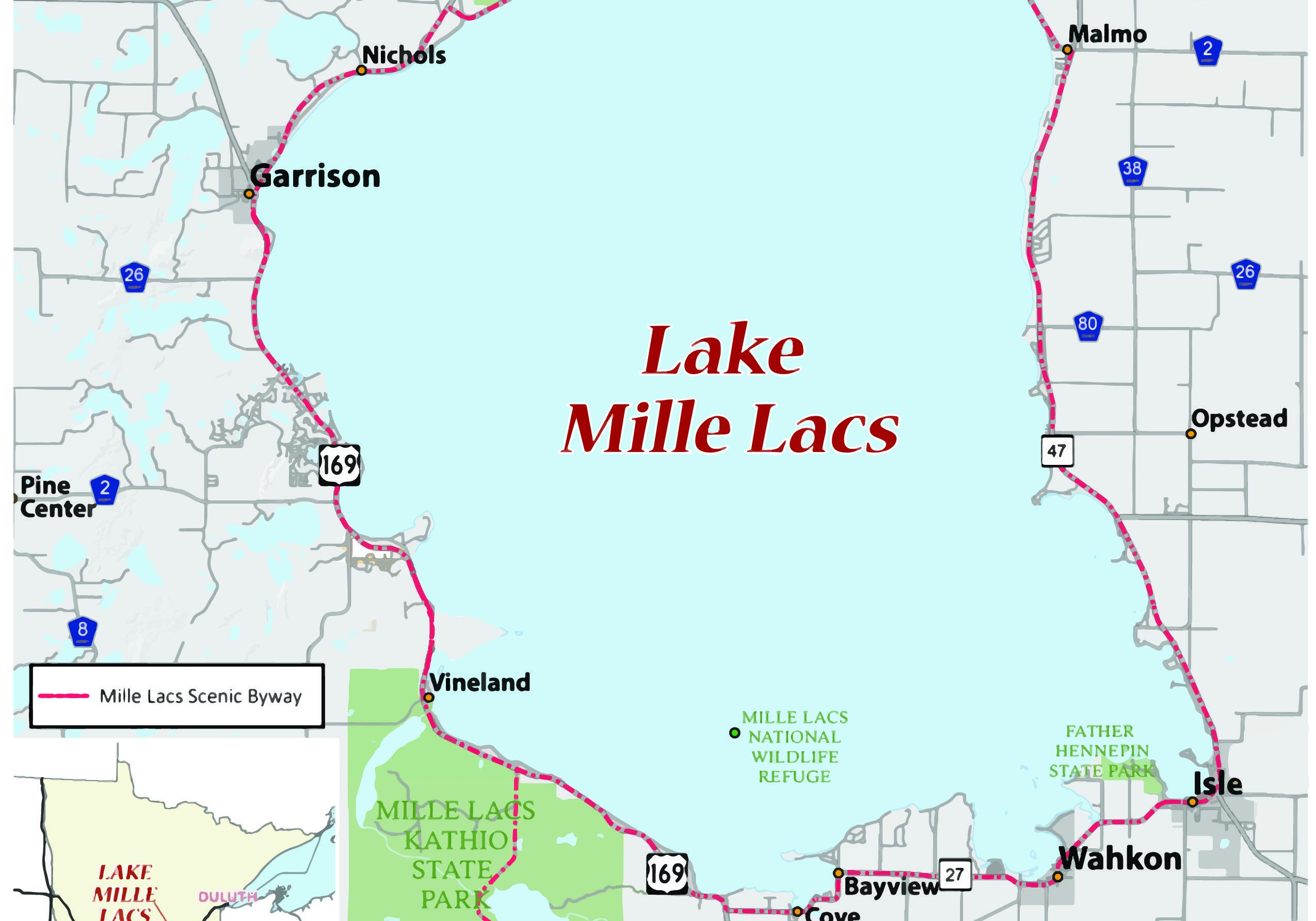 Mille Lacs Map