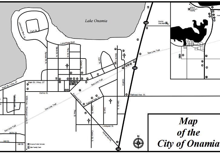 Onamia Map